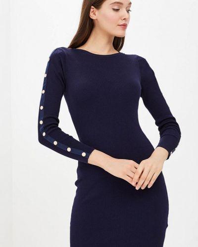 Платье осеннее синее Zeza