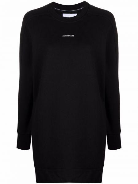 Платье макси длинное - черное Calvin Klein Jeans