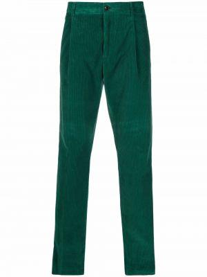 Зеленые брюки на молнии Etro