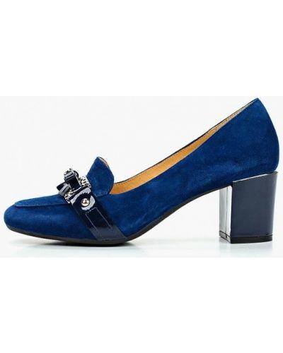 Туфли на каблуке замшевые синий Pierre Cardin