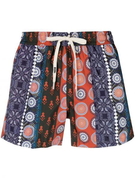 Оранжевые пляжные плавки-боксеры с карманами Nos Beachwear