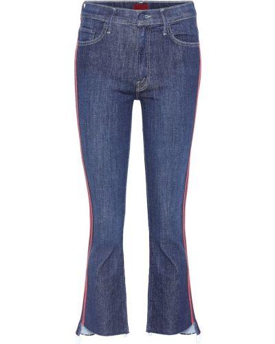 Укороченные джинсы свободные с манжетами Mother