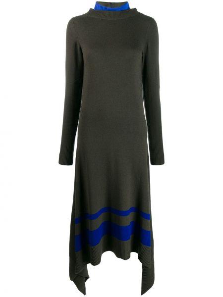Платье на пуговицах со вставками Sacai