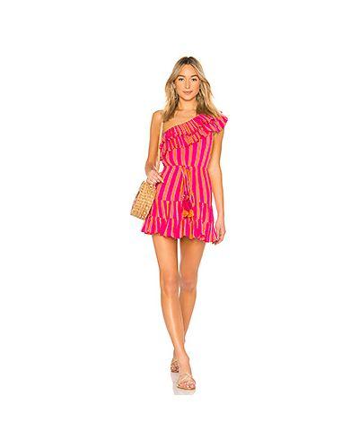 Платье мини розовое на одно плечо Lovers + Friends