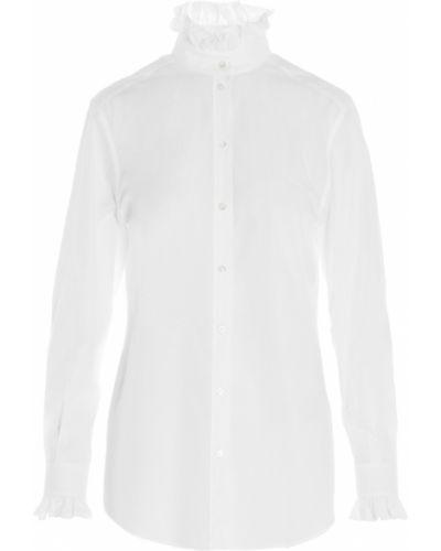 Biała koszula z falbanami - biała Dolce And Gabbana