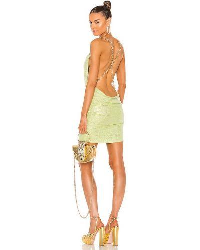Платье мини с декольте - желтое Bronx And Banco