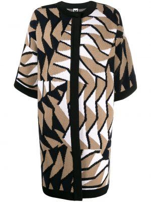 Коричневое шерстяное пальто свободного кроя M Missoni
