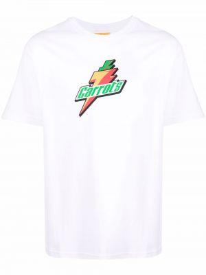Biała koszulka krótki rękaw Carrots