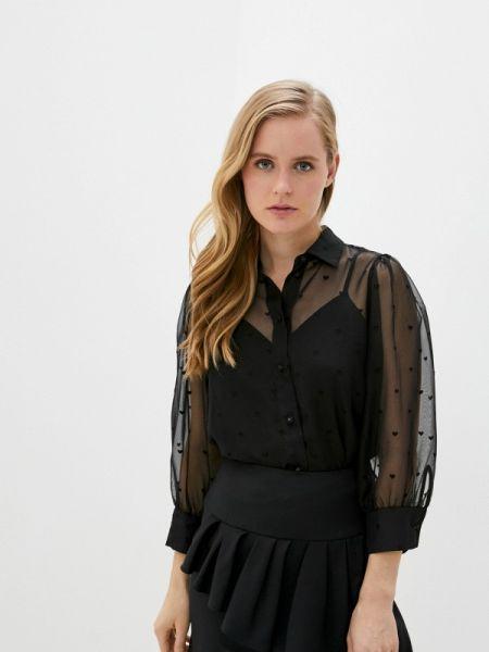 Блузка с длинным рукавом черная весенний The Kooples