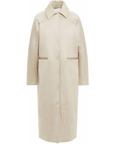 Стеганое кожаное пальто с опушкой Remain Birger Christensen
