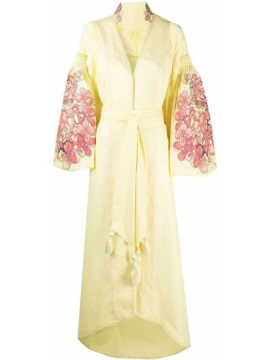 Хлопковое платье макси - желтое Yuliya Magdych