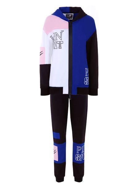 Нейлоновый белый спортивный костюм с логотипом средний Plein Sport