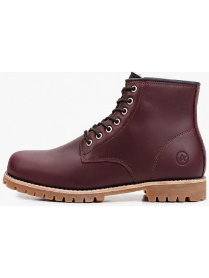 Кожаные ботинки - бордовые Affex