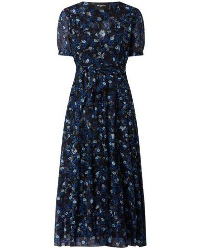 Sukienka rozkloszowana krótki rękaw - niebieska The Kooples