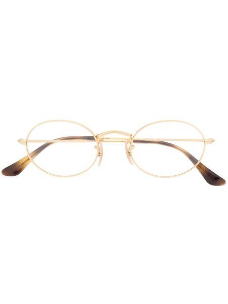 Prosto oprawka do okularów metal złoto okrągły Ray-ban