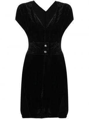 Sukienka mini srebrna - czarna Rick Owens