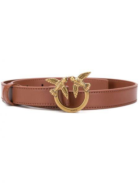 Кожаный ремень с пряжкой золотой с поясом Pinko