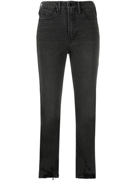 Klasyczne czarne jeansy z wysokim stanem Good American