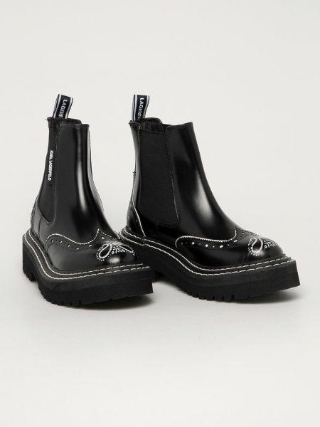 Кожаные ботинки Karl Lagerfeld