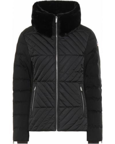 Черная зимняя куртка из искусственного меха Fusalp
