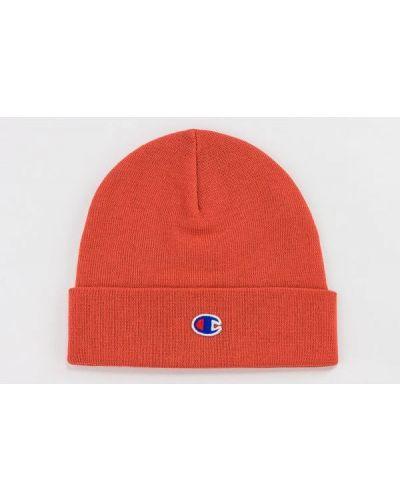 Czerwona czapka z haftem Champion