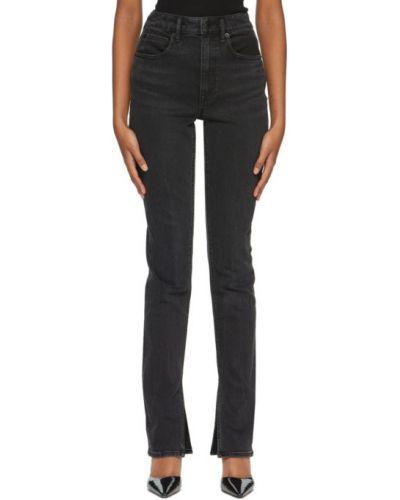 Черные джинсы с манжетами стрейч с логотипом Alexander Wang