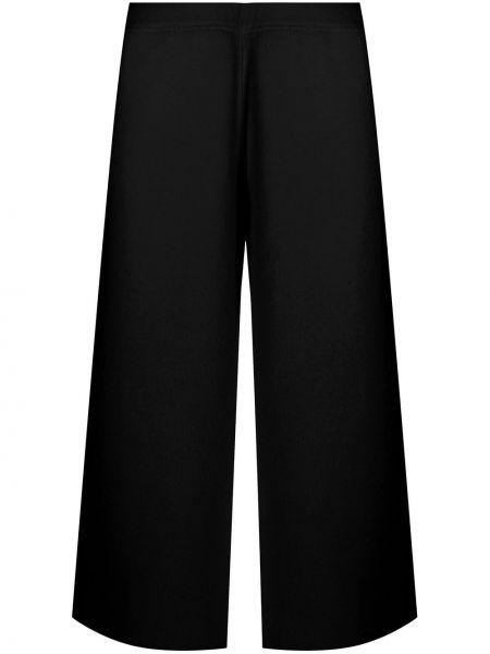 Брючные шерстяные черные укороченные брюки Oyuna