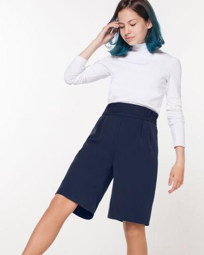 Школьные синие брюки с карманами с высокой посадкой Orby