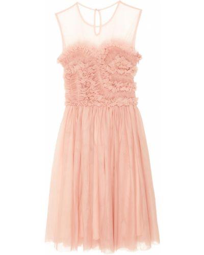 Платье с оборками сетчатое P.a.r.o.s.h.