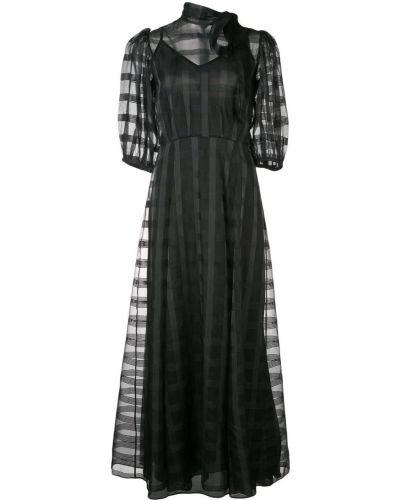 Приталенное расклешенное облегающее платье прозрачное Jill Stuart