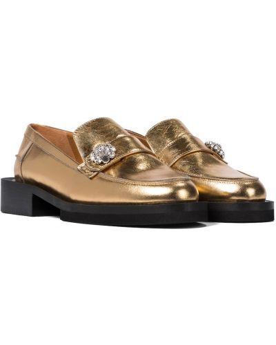 Ciepłe loafers skorzane Ganni