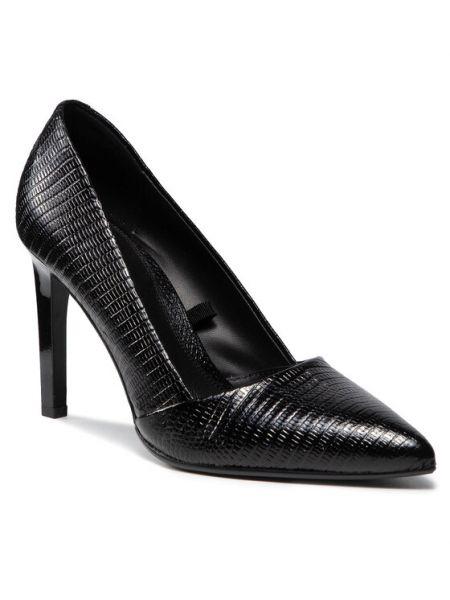 Czółenka szpilki - czarne Calvin Klein