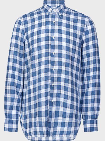 Рубашка на пуговицах - голубая Barba Napoli