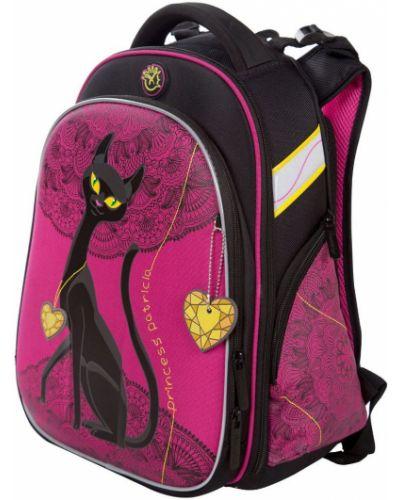 Розовый школьный ранец с карманами Hummingbird