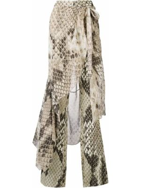 Шелковые расклешенные брюки на молнии Roberto Cavalli