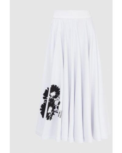 Белая юбка миди Prada