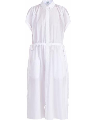 Платье со складками с отложным воротником Kenzo