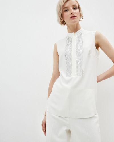 Белая блузка без рукавов Akris Punto