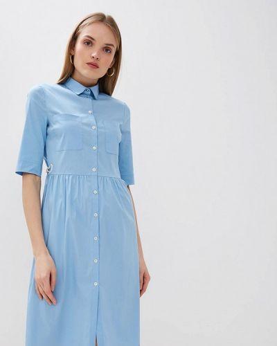 Платье голубой платье-рубашка Patrizia Pepe