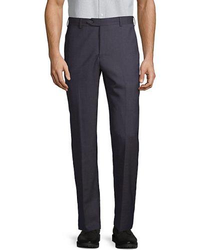 Шерстяные прямые брюки с карманами Zanella