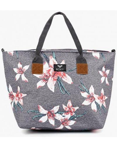 Серая сумка шоппер Roxy