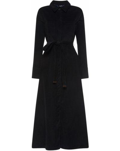 Бархатное платье миди - черное 's Max Mara