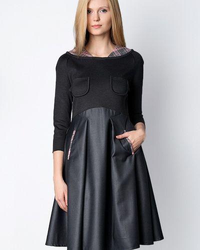 Платье весеннее серое Golda