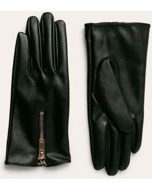 Кожаные перчатки черные Medicine