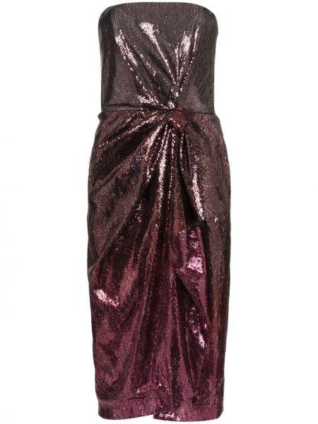 Платье с пайетками - красное Mary Katrantzou