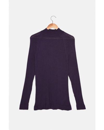 Fioletowy sweter z akrylu Trendyol