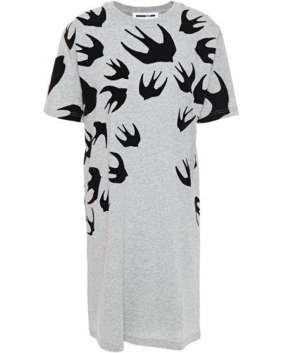 Ватное трикотажное платье мини Mcq Alexander Mcqueen