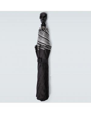 Czarny parasol Alexander Mcqueen