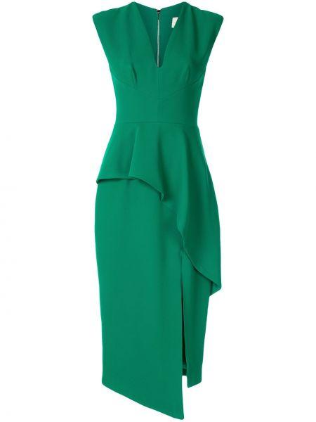 Платье миди с баской с V-образным вырезом Ginger & Smart