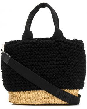 Черная соломенная сумка на плечо Muun